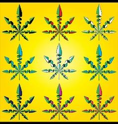 marijuana cannabis design leaf symbol vector image vector image