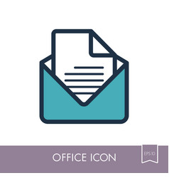 message outline icon office sign vector image