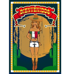 Mexican poster vector