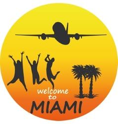 Miami - badge - emblem - summer tropical vector