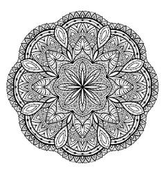 Ornamental filigree mandala vector