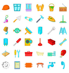 Repairing icons set cartoon style vector