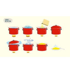 Set icons for instruction infographics cooking vector