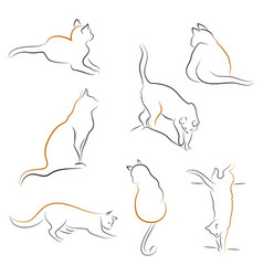 set of cat icons vector image vector image