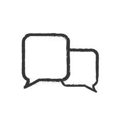 speech bubble speak icon vector image vector image