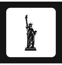 Statue of liberty icon simple style vector image