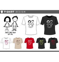 T shirt with couple vector