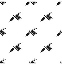Tattoo machine icon black single tattoo icon from vector