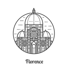 Travel florence icon vector