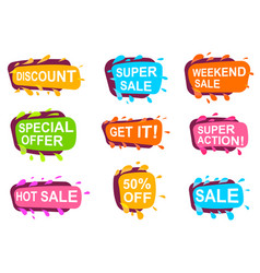 trendy speech bubble set for retail vector image vector image