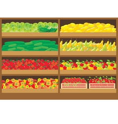Vegetable shop vector image vector image