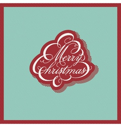 Retro Christmas design vector image
