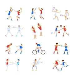Athletes Kids set vector image
