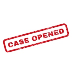 Case opened rubber stamp vector