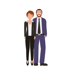 Business couple avatars characters vector