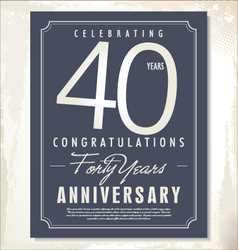 40 years anniversary background vector