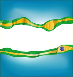 Background with brazil flag vector