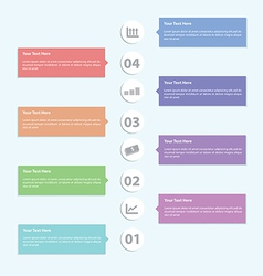 Minimal infographic template design vector