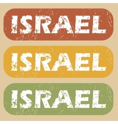 Vintage israel stamp set vector