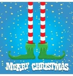 christmas cartoon elfs legs vector image