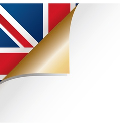 uk page curl vector image