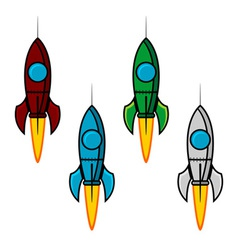 Space rocket set vector