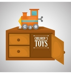 Toy design childhood and game concept vector