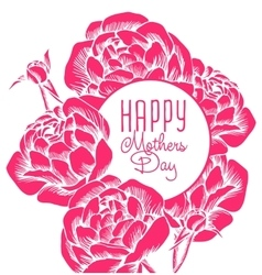 Lettering happy mothers day vector