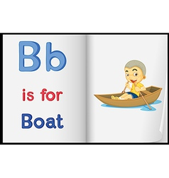 A picture of a boat in a book vector image