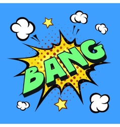 bang comic explosion vector image