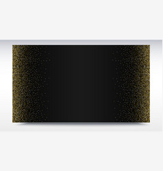 Black gradient backdrop with golden shiny vector