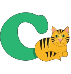 C is for cat vector