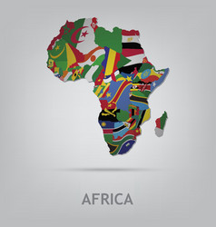 Continet africa vector image vector image