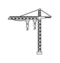 Crane tower isolated icon vector