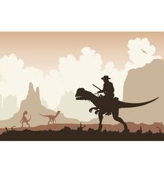 Dinosaur rider vector image vector image