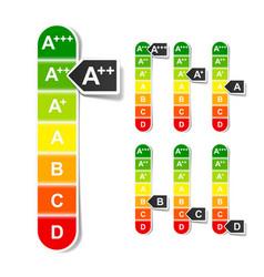 european union energy efficiency rating vector image vector image