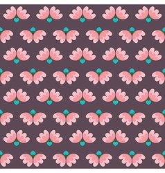 Flowers And Heart Pattern vector image vector image