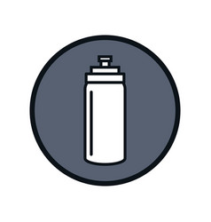 gym bottle isolated icon vector image