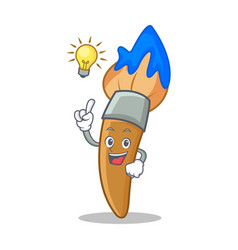 have an idea paint brush character cartoon vector image