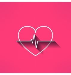 heartbeat medical sign made in modern flat vector image vector image