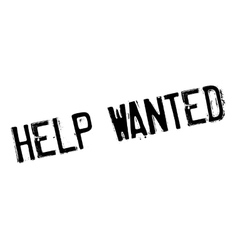 Help wanted stamp vector