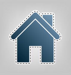 Home silhouette blue icon vector
