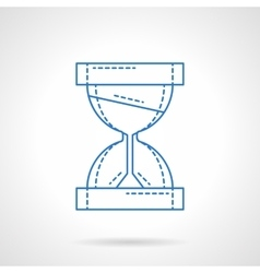 Hourglass blue line icon vector