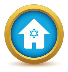House with star icon vector image