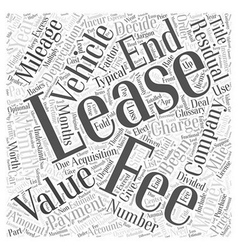 Leasing glossary word cloud concept vector