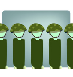 Military stand still vector