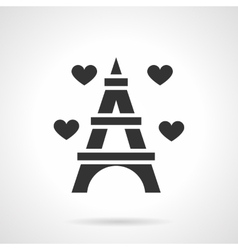 Romantic dating place black icon vector image vector image