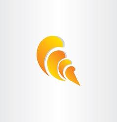 Sea shell stylized symbol vector