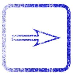Sharp arrow right framed textured icon vector