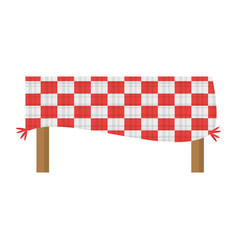 Table blanket picnic eating vector